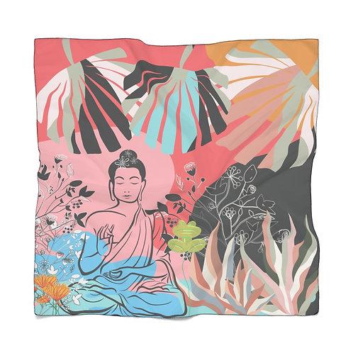 Buddha Girl With Frog Scarf | Garden Scarf | Summer Scarf | Lightweight Scarf