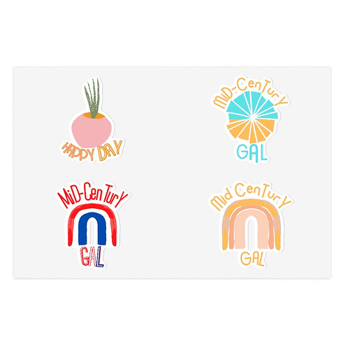 Sticker Sheets | Boho | Mid-Century Decals | Cute Retro Stickers | Gifts For Her