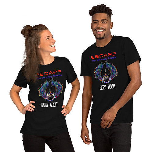 Escape Journey Tribute 2021 T-Shirt Short-Sleeve Unisex | Bella + Canvas