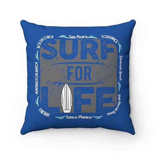 Surfer Pillow | Blue Surf Pillow And Case | South Bay California Surf Pillow