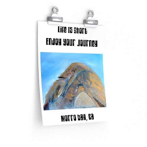 Morro Bay, California Poster   Print Painting Of Morro Bay Rock   Inspire Quote