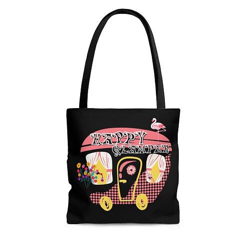 Tote Bag, Cute Retro Camping Tote Bag, Happy Glamper, Campers Shopping Bags