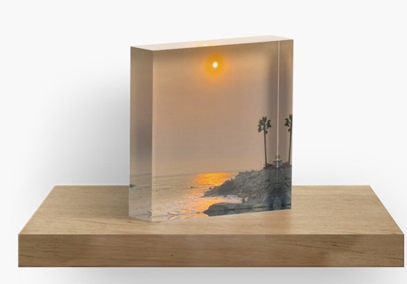 Acrylic Block San Pedro Sunset By Concet