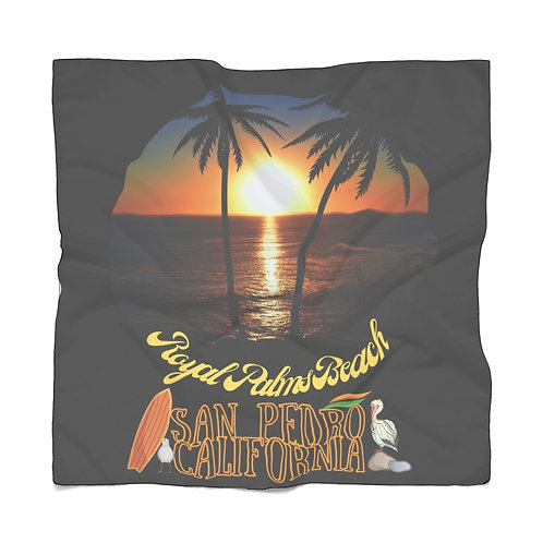 San Pedro California Scarf   Summer Scarf   San Pedro Ca Souvenir   Black Scarf