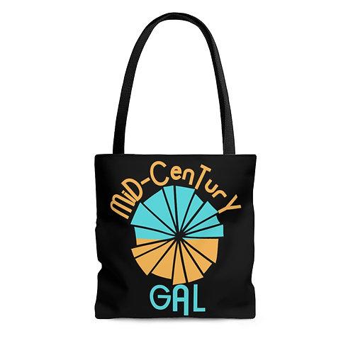 Mid-Century Gal Tote Bag | Boho Beach Bag | Modern Retro Design | Gift For Her