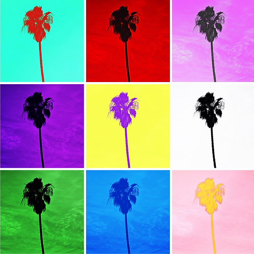 Square Note Card Pop Art Retro Palm Trees By Concetta Ellis