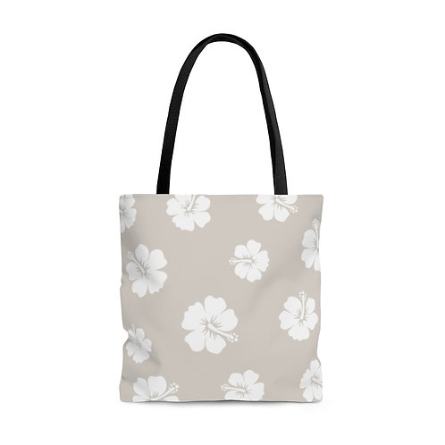 Beach Bag, Hawaiian Hibiscus Flowers, Travel Floral Tote, Shopping Carry All Bag
