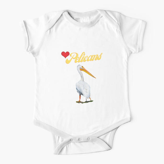 Love Pelicans Oneies Baby Infant Tees By