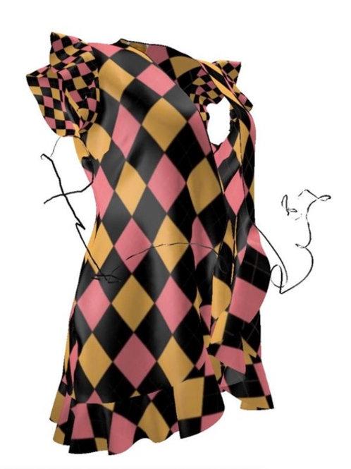 Mid-Century Diamond Dress