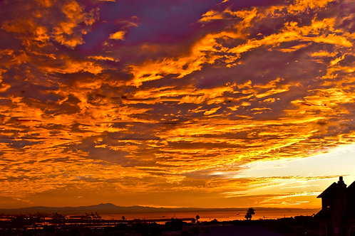 Note Card Sunrise 10 San Pedro, Ca Photography By Concetta Ellis