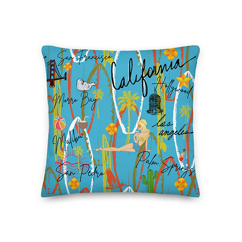 California Blue Premium Pillow