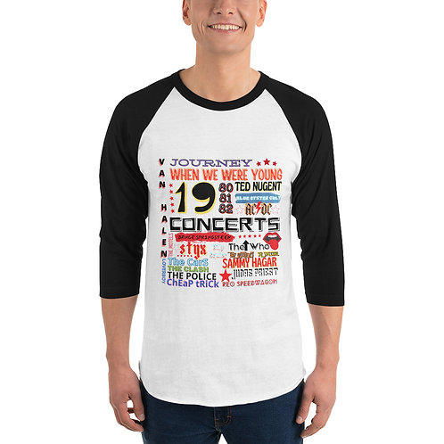 80's When We Were Young 3/4 sleeve raglan shirt