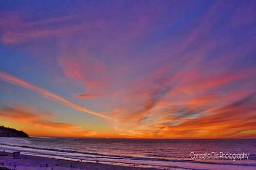 Note Cards Sunset 27 Purple Hues Ratt Beach