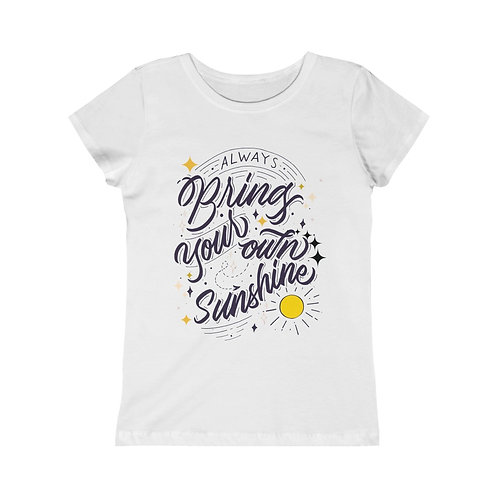 Girls Tee Jr Youth Size Positive Quote