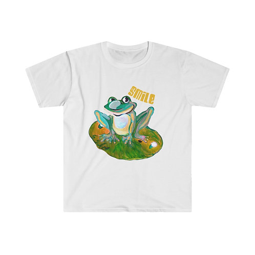 Unisex Softstyle T-Shirt | Frog Shirt | Frog On A Lily Pad | Nature Tee |