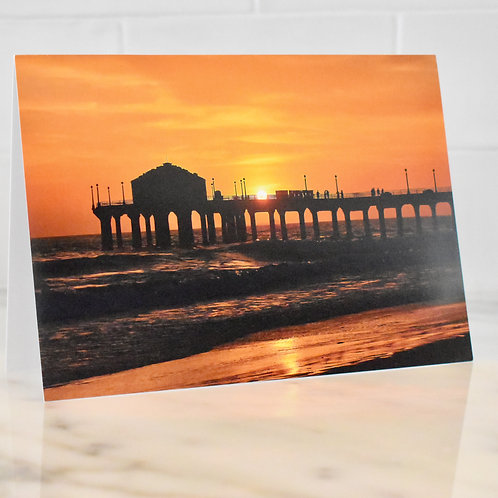Note Card Manhattan Beach Sunset Photography By Concetta Ellis