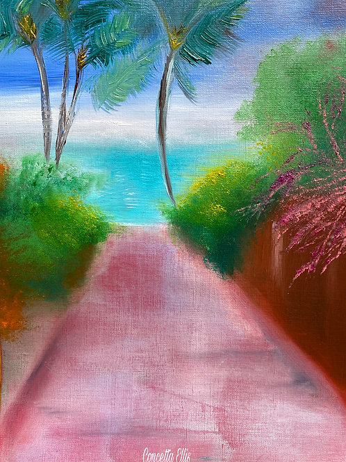 Greeting Card Pathway To Paradise By Concetta Ellis