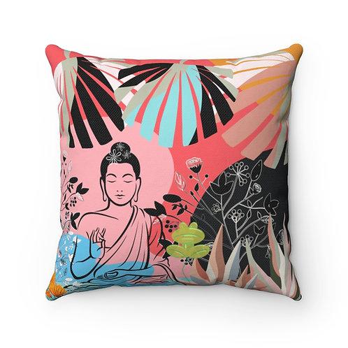 Budda Girl Pillow   Garden Pillow And Cover   Pink Garden Pillow
