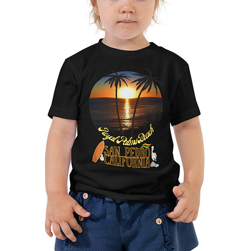 San Pedro California T-Shirt | Toddler Short Sleeve Royal Palms Bella + Canvas