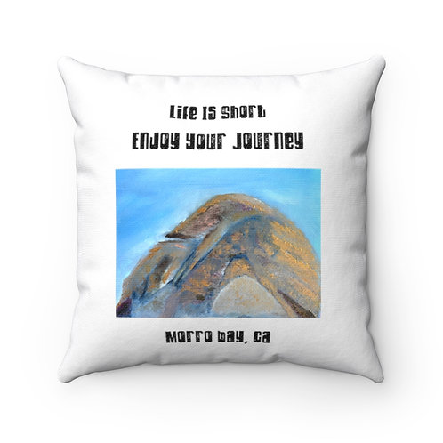 Morro Bay, Ca | Pillow And Case | Morro Bay Rock | Wise Quote