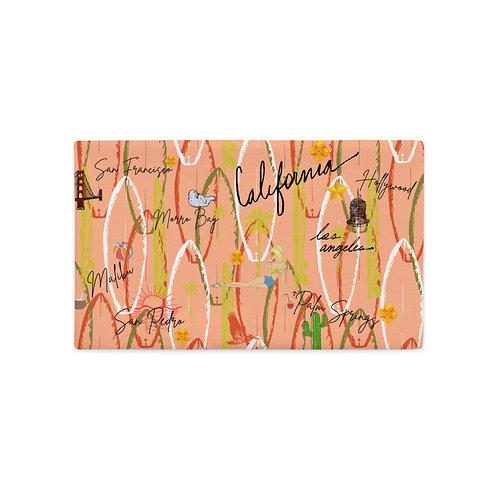 California Vintage Design Peach Orange Premium Pillow Case