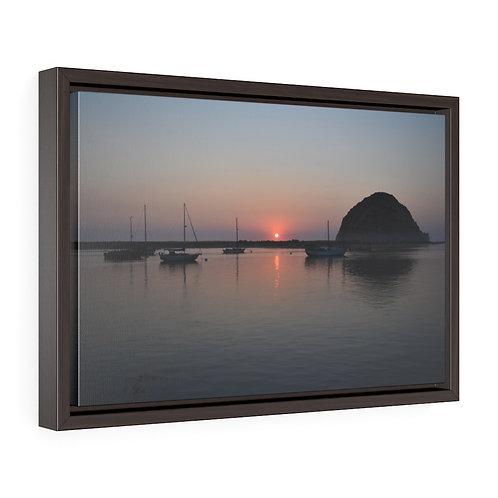 Framed Premium Gallery Wrap Canvas   Morro Bay Rock   Ca, Photography   Wall Art