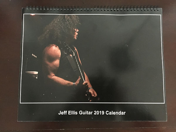JEFF ELLIS GUITAR 2019 CALENDAR Photogra