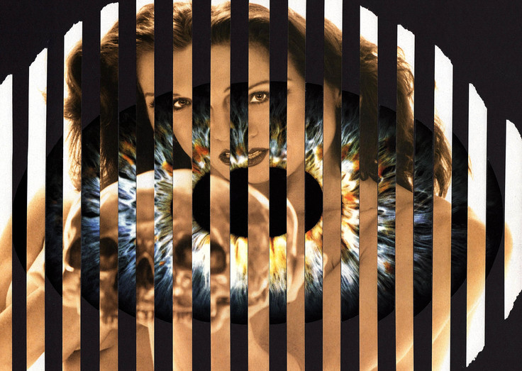 """""""Strange illusion"""" collage sur papier dimensions : 24 x 36 cm Prix : 120€"""