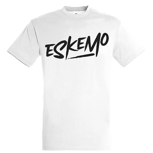 T-shirt - Eskemo Simple Blanc / Noir (Homme)