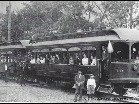 """""""All Aboard"""" the North Jersey Rapid Transit Trolleys in Glen Rock"""