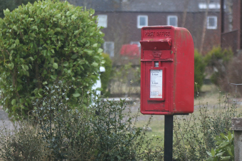 Post Box Red British Royal Mail Highland Delivery Free Posting post Scottish Chocolates
