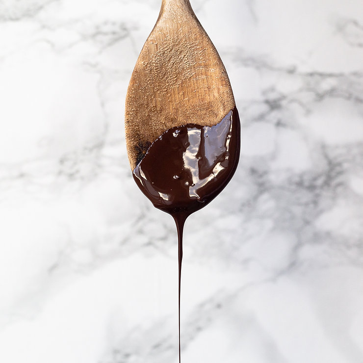 Chocolate Spoon Drip Yum Marble Dark wooden handmade chocolate scotland skye Island isle of kyle lochalsh glenshiel