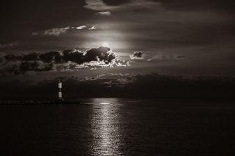 sunset water, BW, KJGeisler.JPG