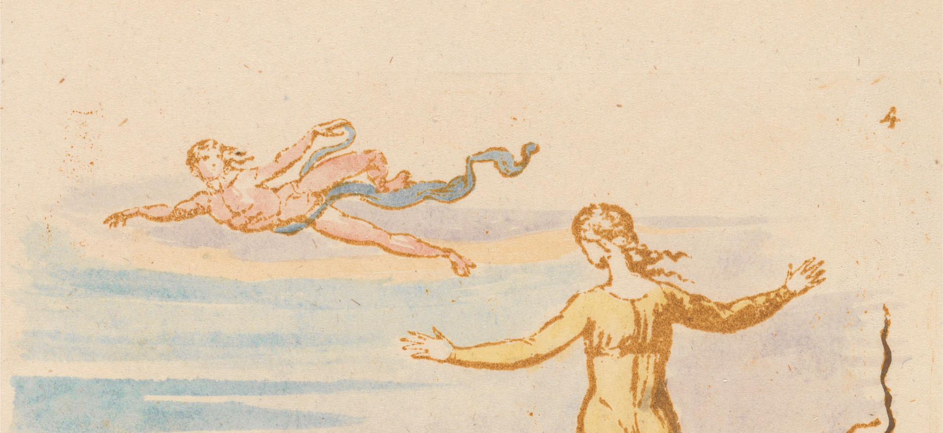 detail from Book of Thel, Plate 6, c. 1789.