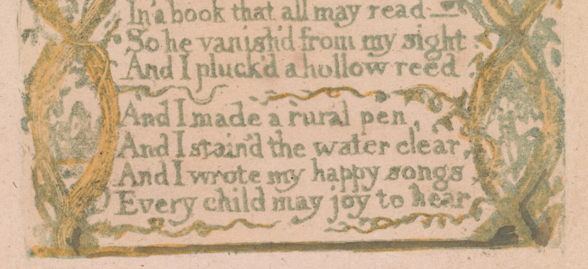 "detail from Songs of Innocence, ""Introduction,"" c. 1789."