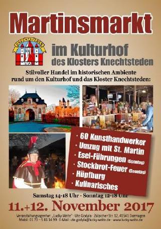 Martinsmarkt in Kulturhof des Klosters Knechsteden