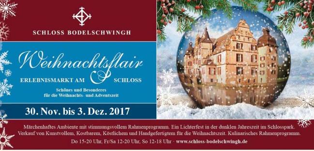 Weihnachtflair in Schloss Bodelschwingh