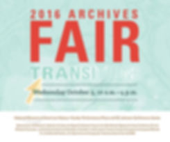 2016 Archives Fair Poster