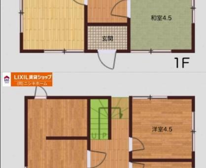 中古戸建て 小松島市 大林町字金岡 2階建 4LDK 築19年 990万円