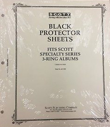 ACC-102   Black Protector Sheets for Scott U.S. Nat'l 3-ring binder