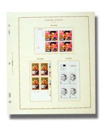CPB-4 Scott U.S. Commemorative Plate Block Pages, Part 4 (1969-1973)