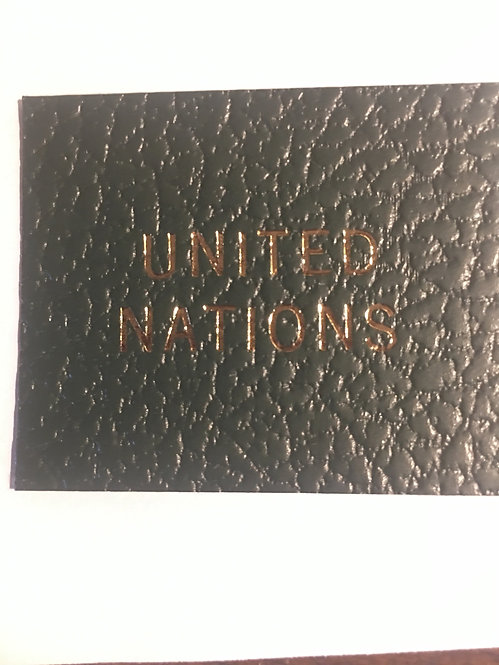 """LB-061""""United Nations"""" label for Scott Specialty binders"""