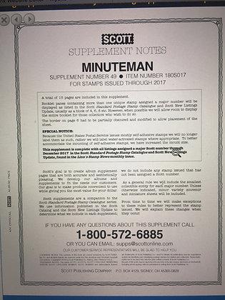 MM-17 2017 Scott U.S. Minuteman Supplement #49 fits 2-post or 3-ring