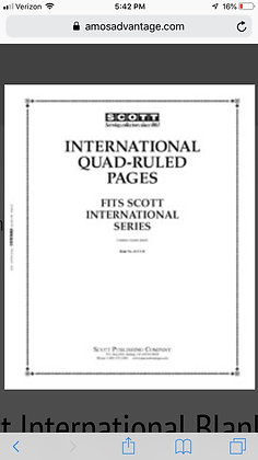 ACC-131	International Quadrille Blank Pages