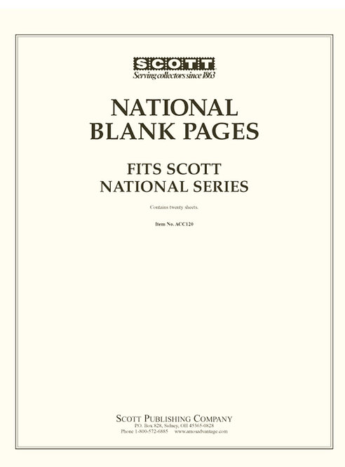 ACC-120 Scott U.S. National Blank Pages
