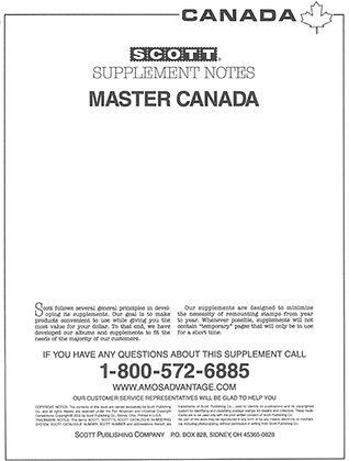 SCA-09	2009 Master Canada Supplement #35