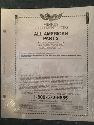 AA-17A:    2017 All-American Part 2 - US Postal Stationery
