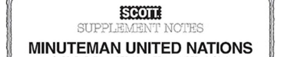 MMUN-97 1997 Scott Minuteman-U.N. Supplement (U.N. stamps only)