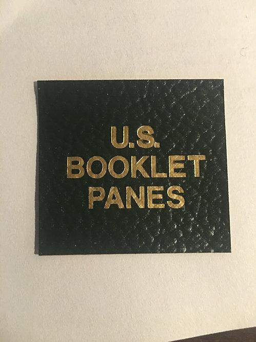 "LB-074   ""U.S. Booklet Panes"" label for Scott binders"