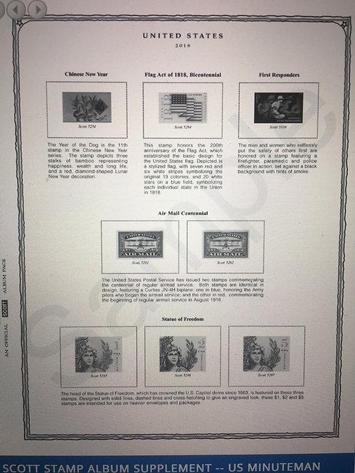 MM-87 1987 Scott U.S. Minuteman Supplement #19 for 2-post binder only
